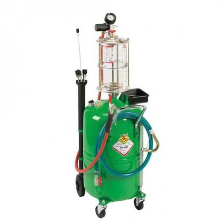 Pneumatyczna wysysarka do oleju na zbiorniku 80 l i zbiornikiem kontrolnym 8l- RAASM