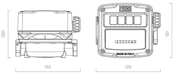 Wymiary licznika K600/3 PIUSI