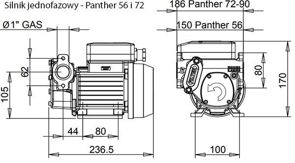 Wymiary pompy Panther