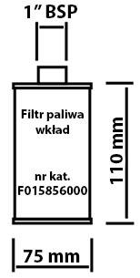 Wkład filtr paliwa 015856000